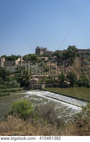 View Of The City Of Toledo And The River Tagus, Spain