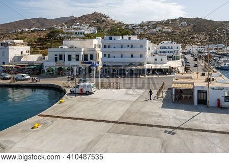 Ios, Greece - September 26, 2020: Ios, A Greek Island In The Cyclades Group In The Aegean Sea.