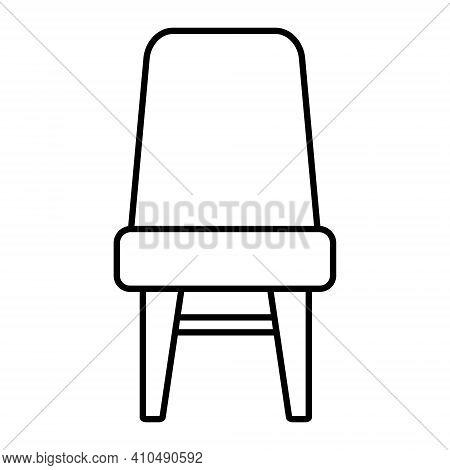 Icon Of Stool Furniture Set Vector Black Line