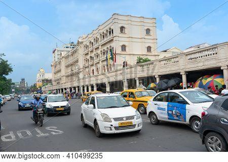 Kolkata, West Bengal, India - 10th September 2019 : Grand Hotel, Iconic Historic Building Of Kolkata