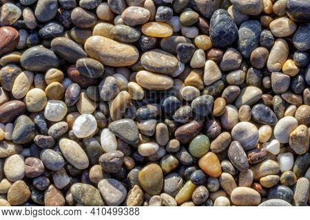 Pebbles At Pebble Beach. Bean Hollow State Beach, California, Usa.