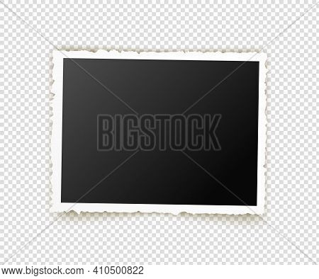 Old Photo. Retro Image Frames. Empty Snapshot Frame Template. Vector Illustration Isolated On Transp