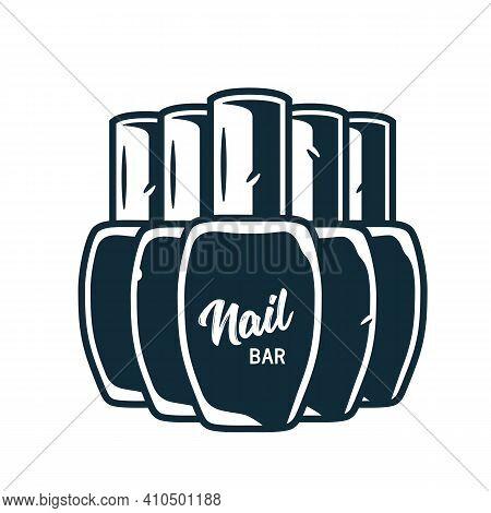 Manicure Polish Or Varnish In Bottle For Nail Bar