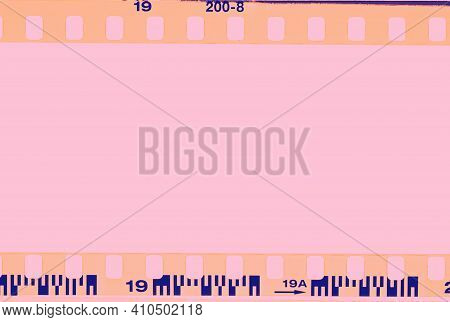 Film Strip, Real High-res 35Mm Film Strip Scan With Signs Of Usage On Bezel.