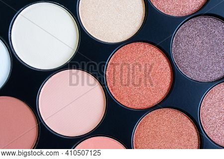 Beautiful Colorful Eyeshadow Palette. Makeup. Beauty Products. Tool For Makeup Artist. Decorative Co