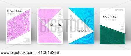 Abstract Cover. Worthy Design Template. Suminagashi Marble Triangle Poster. Worthy Trendy Abstract C