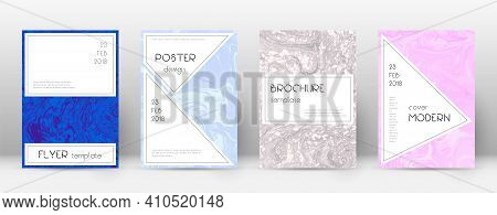 Abstract Cover. Admirable Design Template. Suminagashi Marble Stylish Poster. Admirable Trendy Abstr