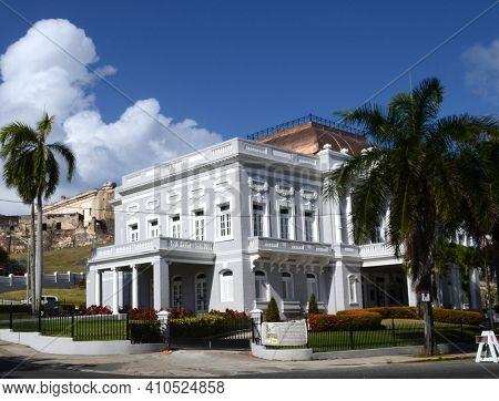 SAN JUAN, , PUERTO RICO - 19 MAR 2012: The Antiguo Casino de Puerto Rico