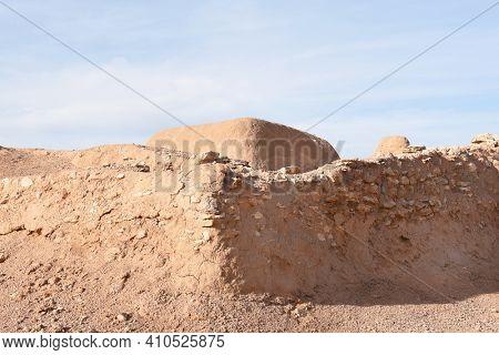 PHOENIX, ARIZONA - DECEMBER 9, 2016: Pueblo Grande Museum. Ruins of the prehistoric Hohokam culture in the Phoenix area.
