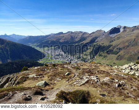 Davos Klosters Switzerland, Seehorn Peak, Swiss Beautiful Landscape Nature