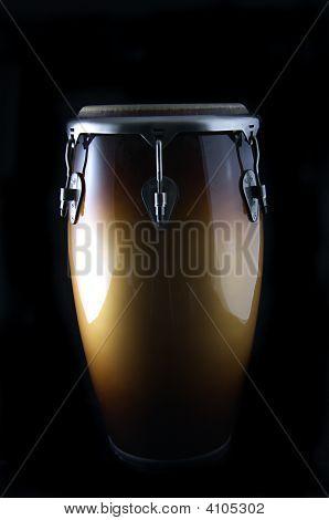 Latin Conga Drum On Black