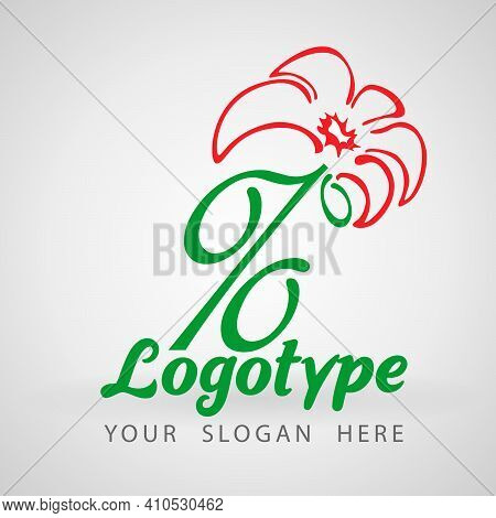 Green Percent Flower Logo Icon Design Template. Discount Percent Concept. Vector Illustration. Speci
