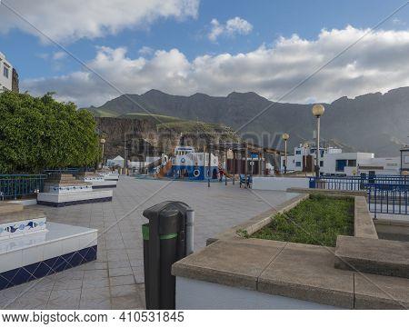 Puerto De Las Nieves, Agaete, Gran Canaria, Canary Islands, Spain December 17, 2020: Childern Playgr