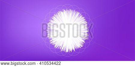 Dandelion Concept Background. Ornate Floral Element. Flower Ornament Pattern. Abstract Decorative Da