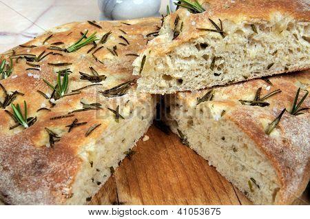 Rosemary focaccia bread.