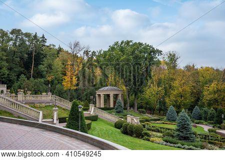 Mezhyhirya National Park, Novi Petrivtsi, Kyiv Region, Ukraine - October, 16, 2020: Museum Of Corrup