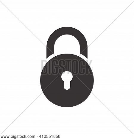 Lock Icon Vector. Lock Icon Isolated On White Background. Lock Icon Simple And Modern For App, Web A