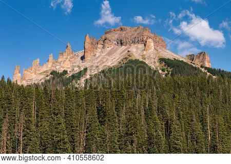 12,742 Foot / 3884 Meter Dunsimere Mountain Has Formations That Flank The Ridge To The Top Of The Mo