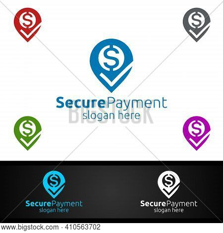 Pin Online Secure Payment Logo For Security Online Shopping. Financial Transaction. Sending Money. M