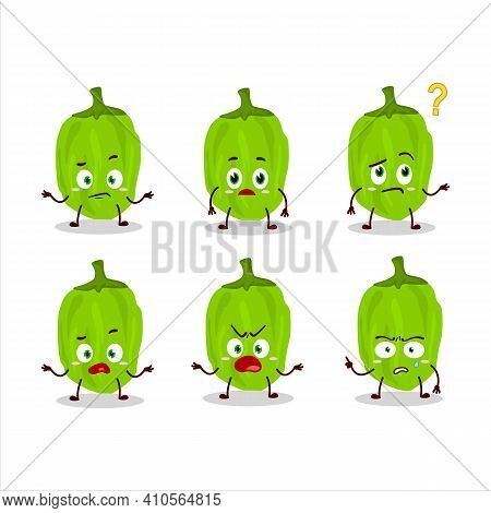 Cartoon Character Of Green Habanero With What Expression
