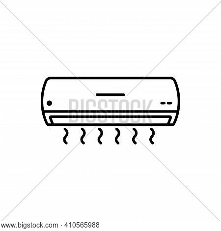 Air Conditioner Icon Vector Illustration. Air Conditioner Sign Symbol.