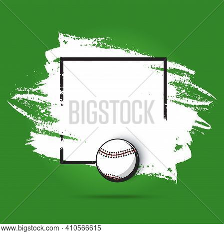Baseball Championship Poster For Sport Game Playoff, Vector Green Field Template. American Baseball
