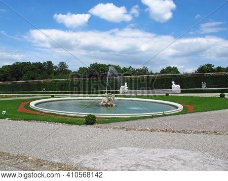 Vienna, Austria - 10 Jun 2011: The Fountain In Belvedere Palace In Vienna, Austria