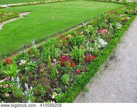 Vienna, Austria - 10 Jun 2011: Flowers In Belvedere Palace In Vienna, Austria