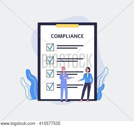 Regulatory Compliance Concept A Flat Vector Illustration.