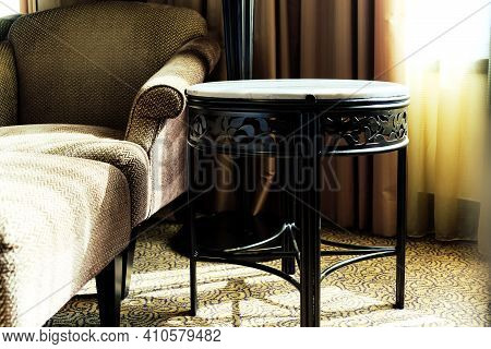 Detail Image Of Classic Chair Style In Luxury Bedroom