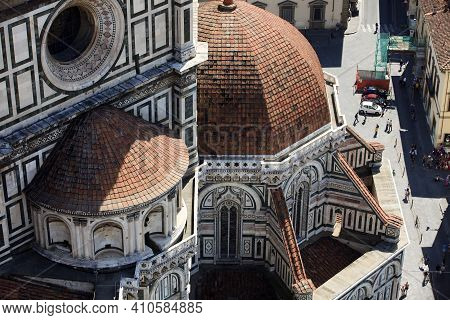 Firenze, Italy - April 21, 2017: The Duomo In Florence, Firenze, Tuscany, Italy