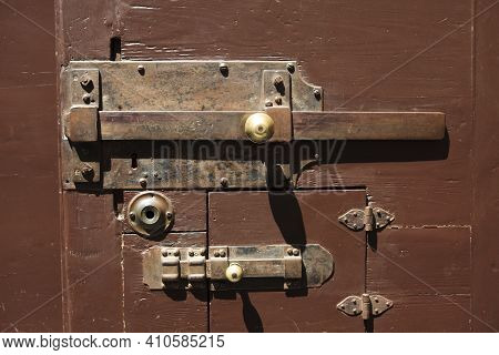 Firenze, Italy - April 21, 2017: An Old Rusty Lock, Florence, Firenze, Tuscany, Italy