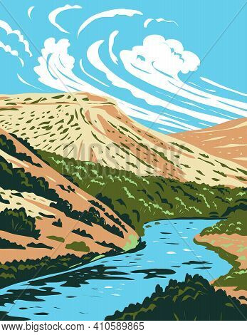Wpa Poster Art Of The Rio Grande, A Principal River In The United States And Mexico That Begins In C