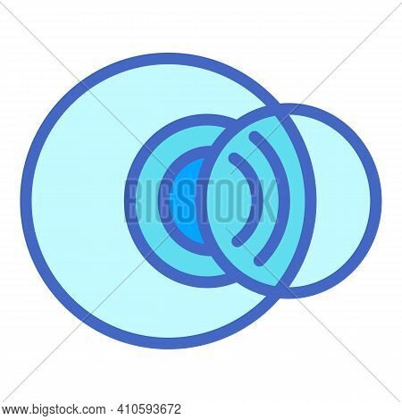 Contact Eyes Lens Icon. Outline Contact Eyes Lens Vector Icon For Web Design Isolated On White Backg