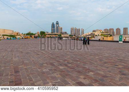 Doha, Qatar - Nov 20. 2019. The Embankment In Katara Beach