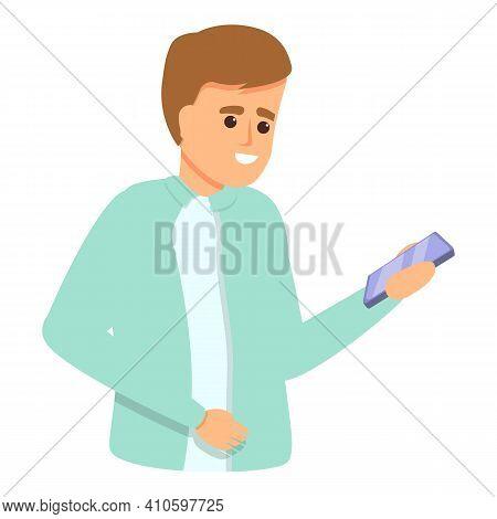 Smartphone Conversation Icon. Cartoon Of Smartphone Conversation Vector Icon For Web Design Isolated