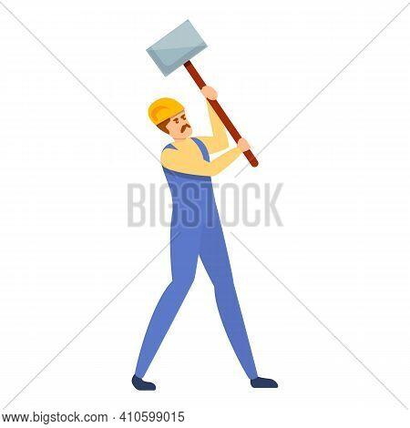 Builder Shovel Icon. Cartoon Of Builder Shovel Vector Icon For Web Design Isolated On White Backgrou