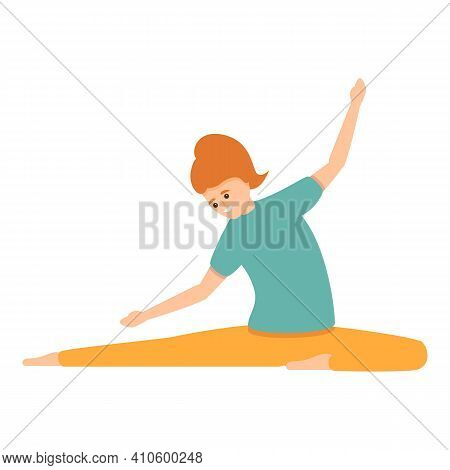 Pilates Training Icon. Cartoon Of Pilates Training Vector Icon For Web Design Isolated On White Back