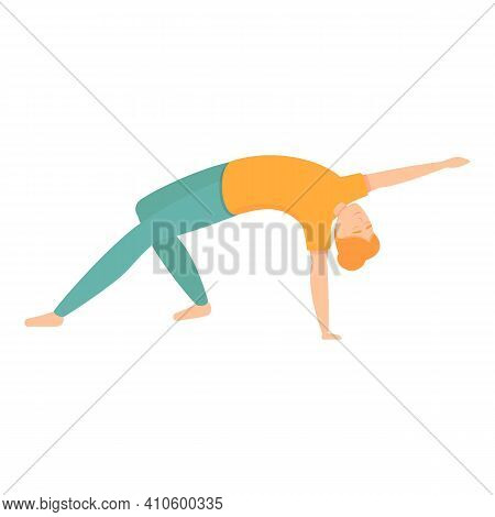 Pilates Stretch Icon. Cartoon Of Pilates Stretch Vector Icon For Web Design Isolated On White Backgr