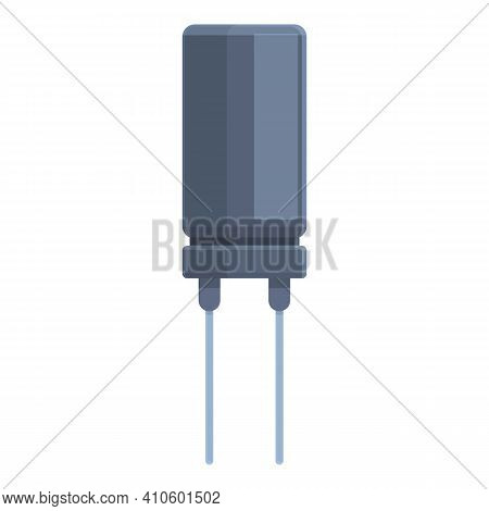 Transistor Icon. Cartoon Of Transistor Vector Icon For Web Design Isolated On White Background