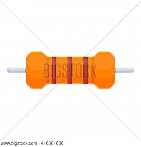 Fuse Resistor Icon. Cartoon Of Fuse Resistor Vector Icon For Web Design Isolated On White Background