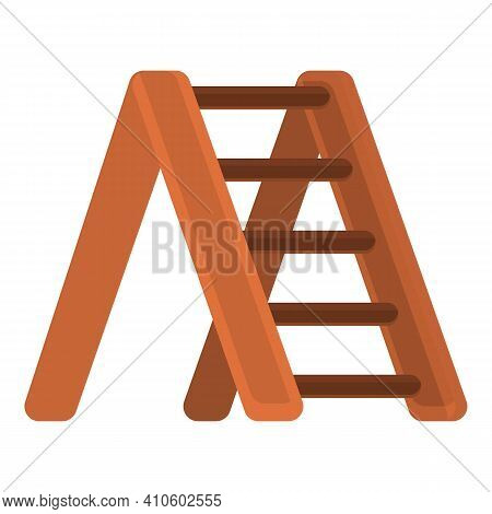 Construct Ladder Icon. Cartoon Of Construct Ladder Vector Icon For Web Design Isolated On White Back