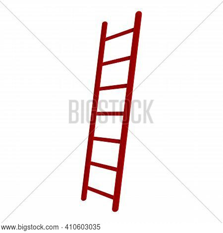Ladder Stair Icon. Cartoon Of Ladder Stair Vector Icon For Web Design Isolated On White Background