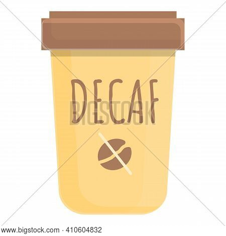 Latte Decaf Icon. Cartoon Of Latte Decaf Vector Icon For Web Design Isolated On White Background