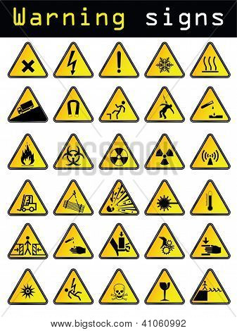 Vector Warning Signs