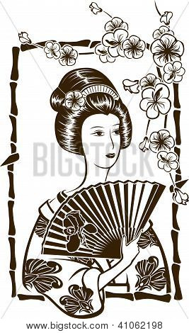 Traditional Japanese Geisha