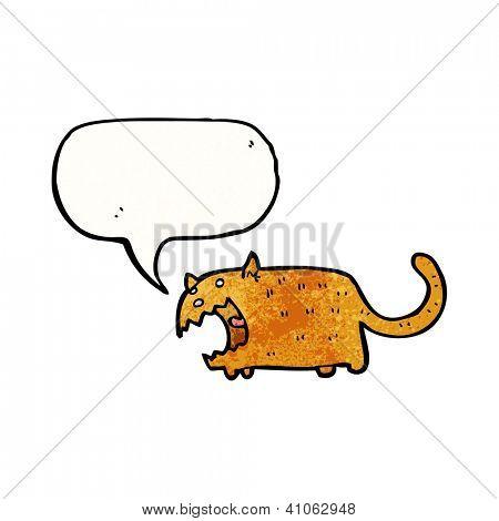 cartoon yowling cat