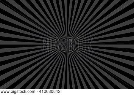 Black Sunburst Pattern Background. Ray Star Burst. Rays Radial Geometric Vector Illustration