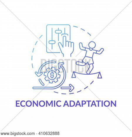 Economic Adaptation Concept Icon. Negative Effects On Global Economy Idea Thin Line Illustration. Ch
