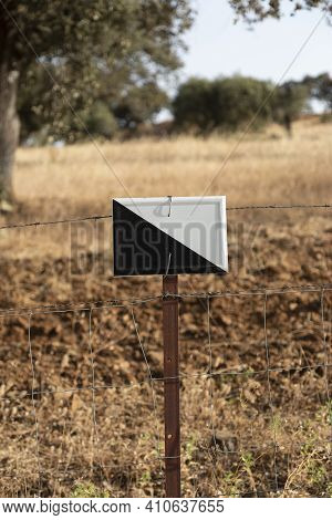 Hunting Ground Sign In An Andalusian Village